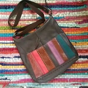 The Sak Cross Body bag Soft leather color accents